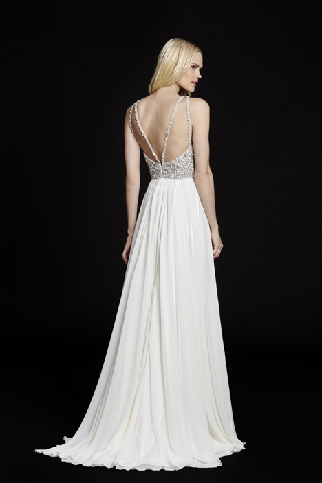 Ellie (6551) (back) gown from the 2015 Hayley Paige collection, as seen on dressfinder.ca