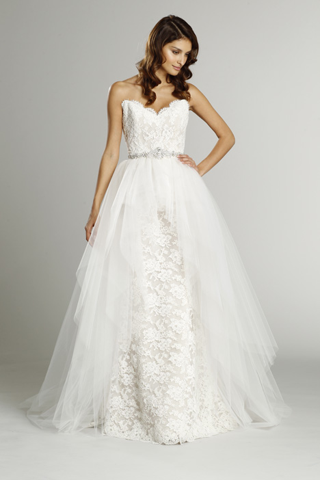 9553 + S553 Overskirt Wedding                                          dress by Alvina Valenta