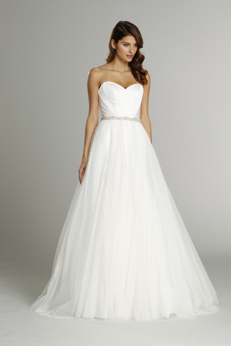 9554 + Overskirt Wedding                                          dress by Alvina Valenta