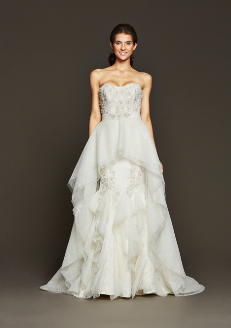 Leigh + Overskirt gown from the 2015 Badgley Mischka Bride collection, as seen on dressfinder.ca