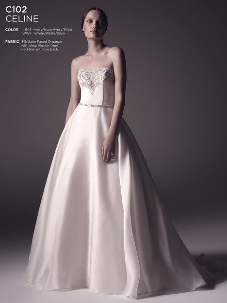 Celine gown from the 2016 Amare collection, as seen on dressfinder.ca