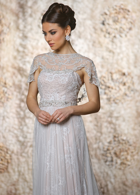 Madeline + Capelet gown from the 2015 Cristiano Lucci collection, as seen on dressfinder.ca