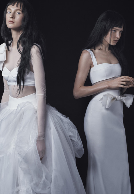 F16 Look 2 + Look 3 Wedding                                          dress by Vera Wang