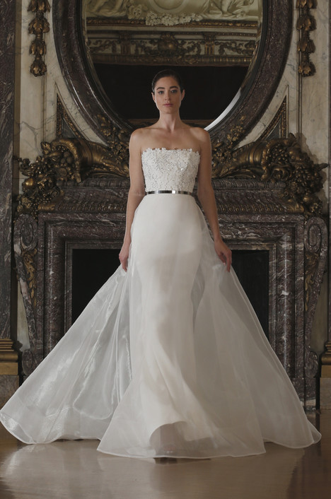 RK6403 + Overskirt Wedding                                          dress by Romona Keveza Collection