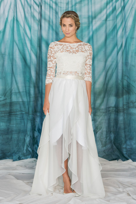Poppy Crop Top + Wrap Skirt Wedding                                          dress by Pure Magnolia