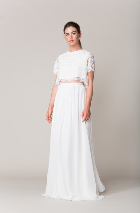 Delancey Top + Watts Skirt Wedding                                          dress by Sarah Seven