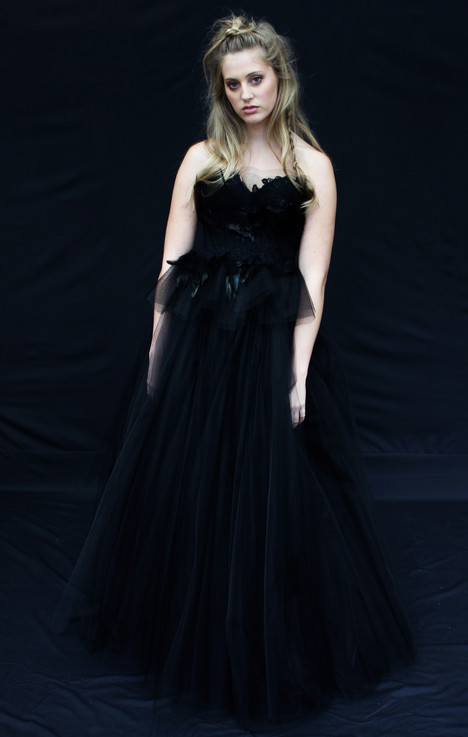 Black Swan gown from the 2016 Claire La Faye collection, as seen on dressfinder.ca