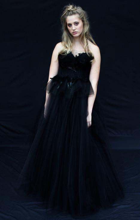 Black Swan Wedding                                          dress by Claire La Faye
