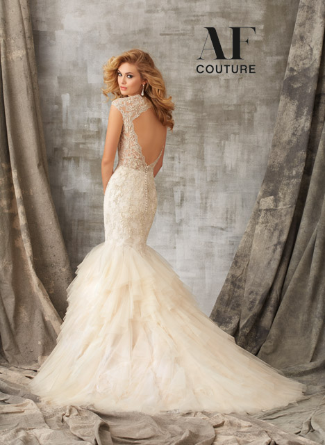 1341 (back) Wedding                                          dress by Mori Lee: AF Couture