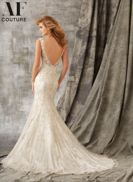 1342 (back) Wedding                                          dress by Mori Lee: AF Couture
