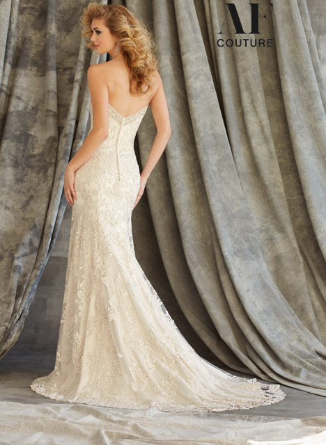 1343 (back) Wedding                                          dress by Mori Lee: AF Couture
