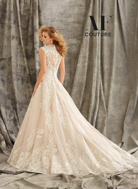 1344 (back) Wedding                                          dress by Mori Lee: AF Couture