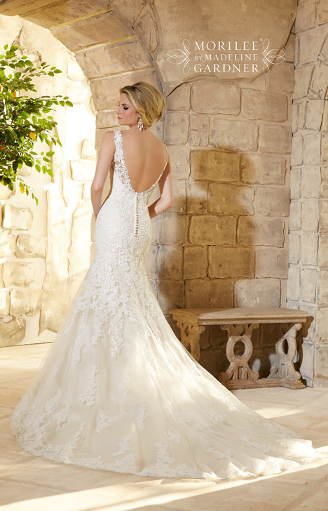 Style 2773 (back) gown from the 2015 Morilee Bridal collection, as seen on dressfinder.ca