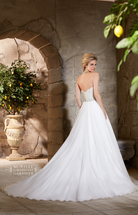 Style 2775 (back) gown from the 2015 Morilee Bridal collection, as seen on dressfinder.ca