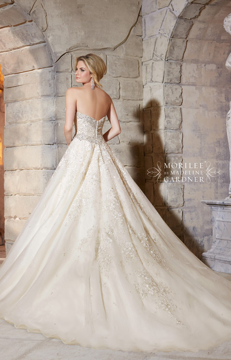 Style 2791 (back) gown from the 2015 Morilee Bridal collection, as seen on dressfinder.ca