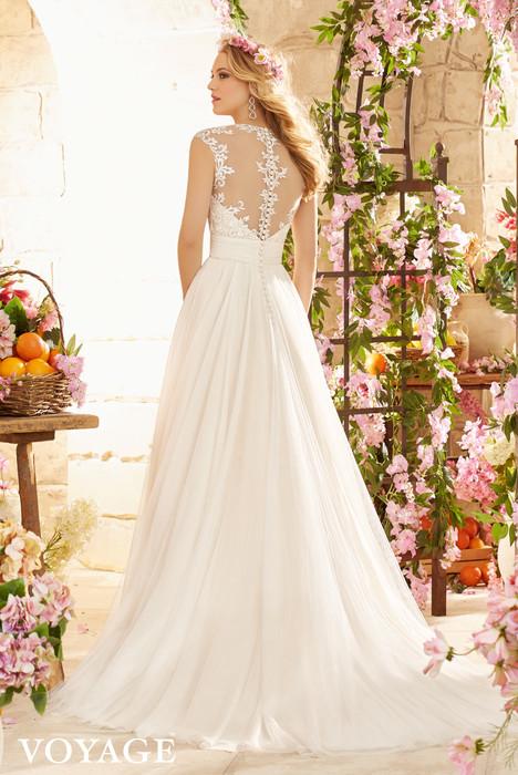 Wedding dress by Morilee Voyagé