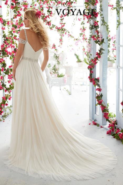 6814 (back) Wedding                                          dress by Morilee Voyagé