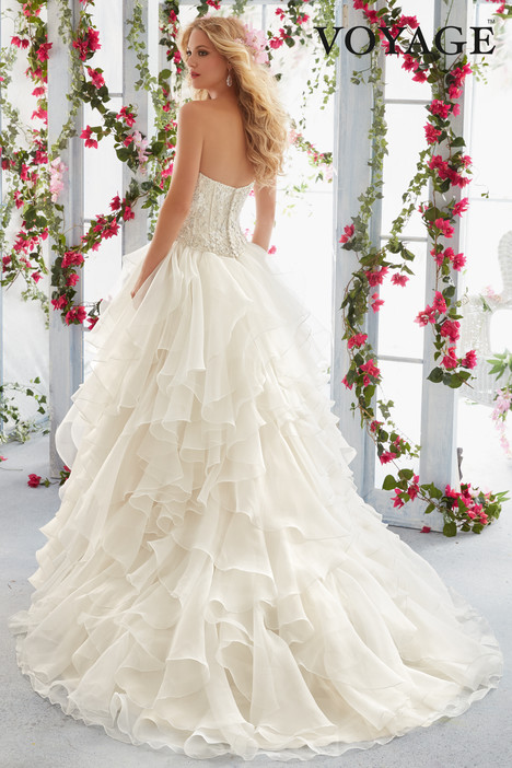 6819-6823 (back) Wedding                                          dress by Mori Lee: Voyage