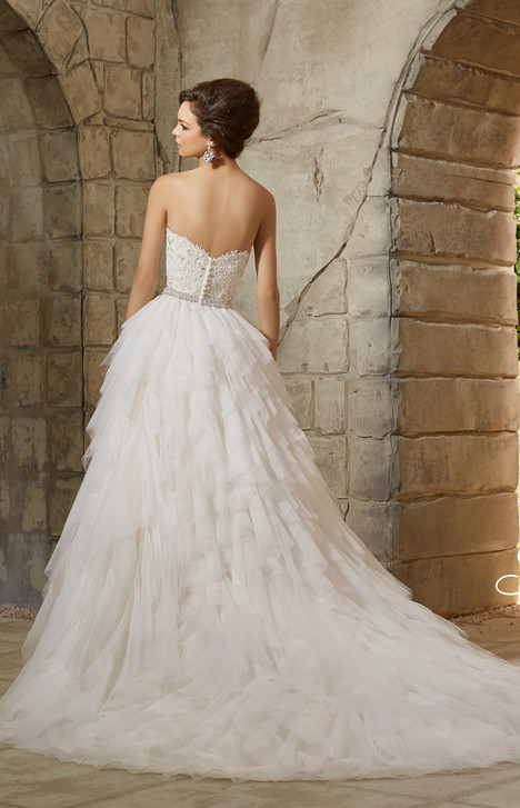 5366 (back) gown from the 2015 Morilee Blu collection, as seen on dressfinder.ca