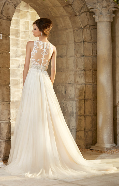 Style 5371 (back) gown from the 2015 Morilee Blu collection, as seen on dressfinder.ca