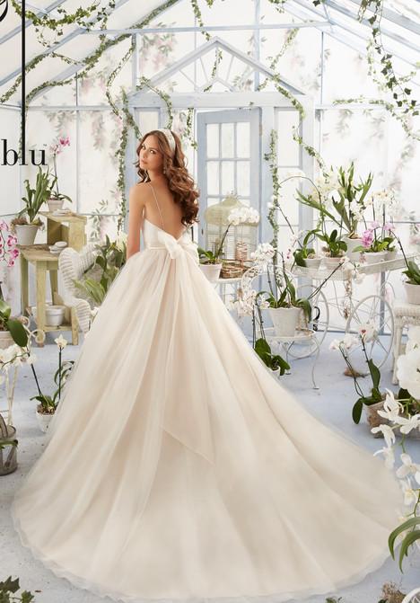 5408 (back) Wedding                                          dress by Mori Lee: Blu