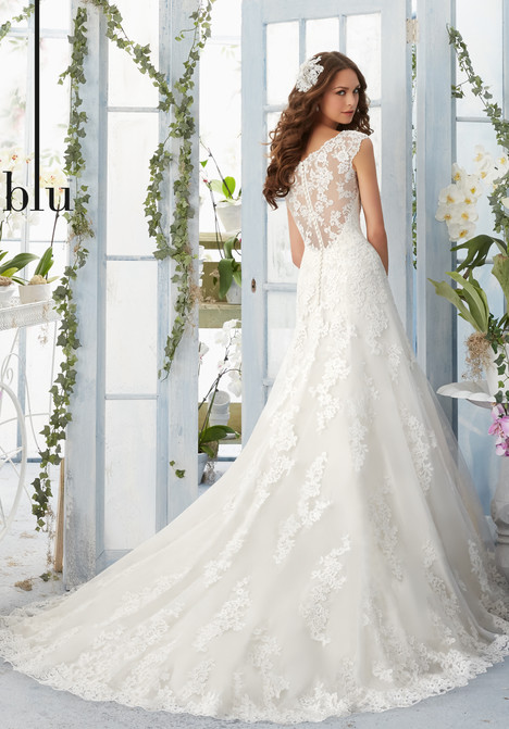 5410 (back) Wedding                                          dress by Mori Lee: Blu