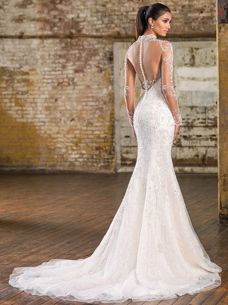 9832 (back) Wedding                                          dress by Justin Alexander Signature