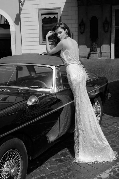 Gina (back) Wedding                                          dress by Julie Vino