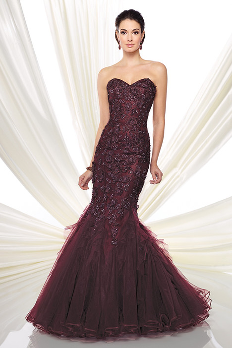 216D41 (wine) Mother of the Bride                              dress by Montage : Ivonne D Collection