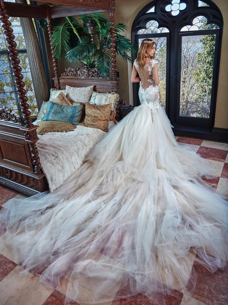 Rihanna (back) Wedding                                          dress by Galia Lahav Couture