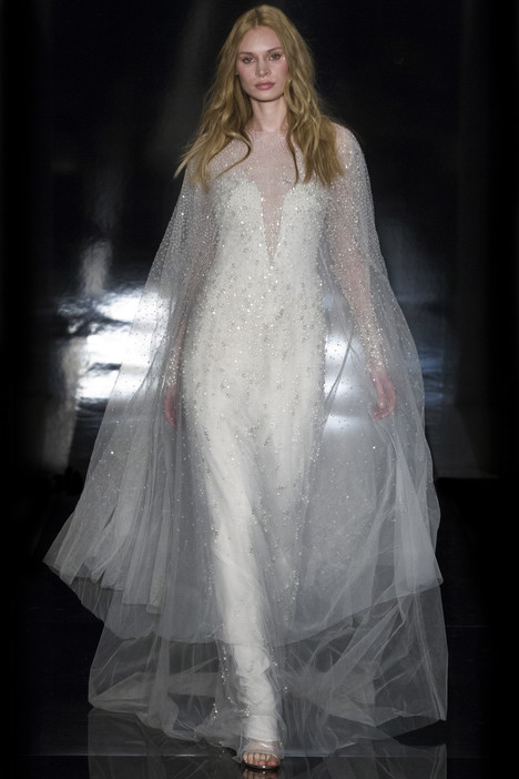 Pia (+ Nina cape) Wedding                                          dress by Reem Acra