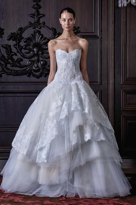 Powder Wedding                                          dress by Monique Lhuillier