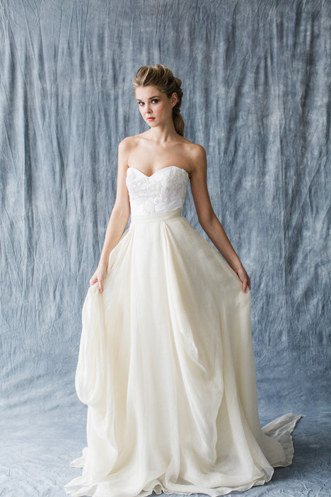 Celestial (top) + Kensington (skirt) Wedding                                          dress by Carol Hannah : Synthesis