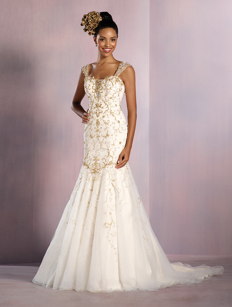 253 Tiana (gold) Wedding                                          dress by Alfred Angelo : Disney Fairy Tale Bridal