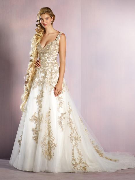 255 Rapunzel (gold) Wedding dress by Alfred Angelo : Disney Fairy Tale Bridal