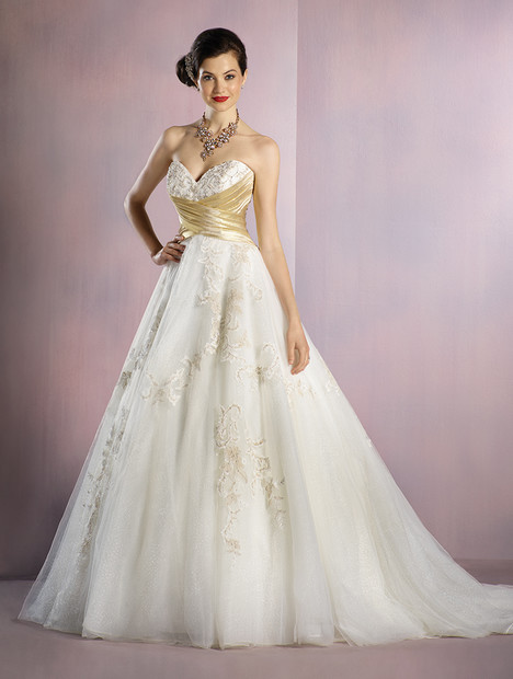 256 Snow White (gold) Wedding                                          dress by Alfred Angelo : Disney Fairy Tale Bridal