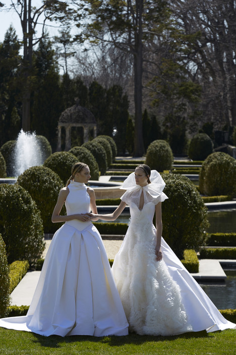 Bess & Dagmar Wedding                                          dress by Vera Wang