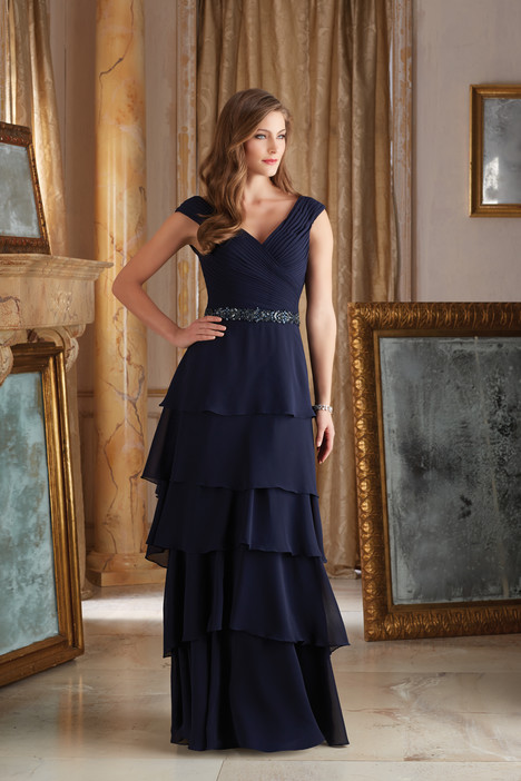 Style 71420, (navy) gown from the 2016 MGNY Madeline Gardner collection, as seen on dressfinder.ca