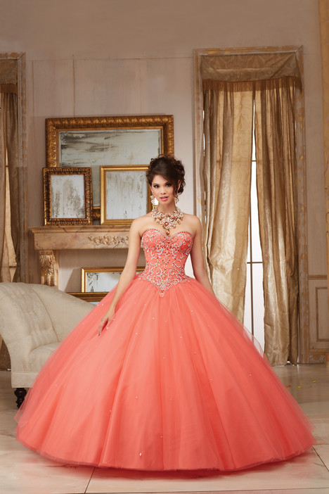 60007 (coral) gown from the 2016 Morilee Valencia collection, as seen on dressfinder.ca