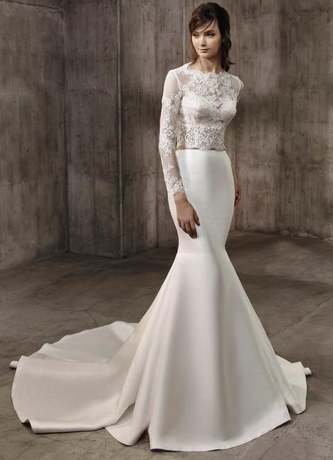 Ashton (top) + Adriene (skirt) Wedding                                          dress by Badgley Mischka Bride