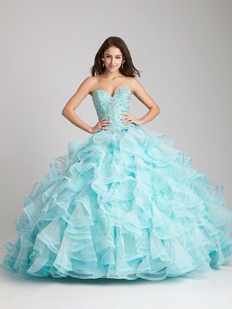 Q530 (aqua) Prom                                             dress by Allure Quinceanera