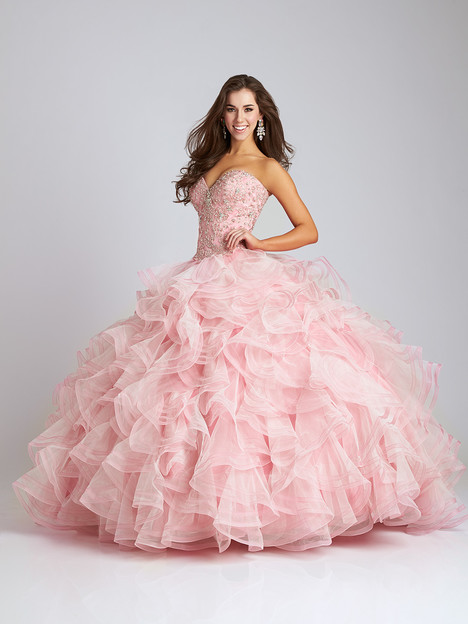 Q530 (blush) Prom                                             dress by Allure Quinceanera
