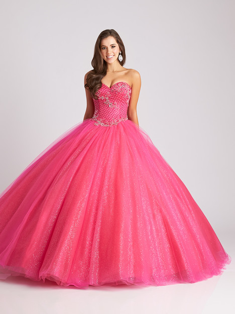 Q531 (fuchsia) Prom                                             dress by Allure Quinceanera