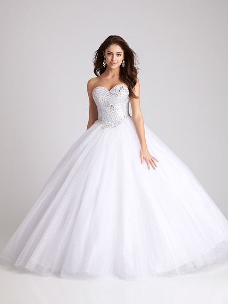 Q531 (white) Prom                                             dress by Allure Quinceanera