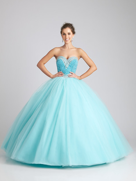 Q532 (aqua) Prom                                             dress by Allure Quinceanera