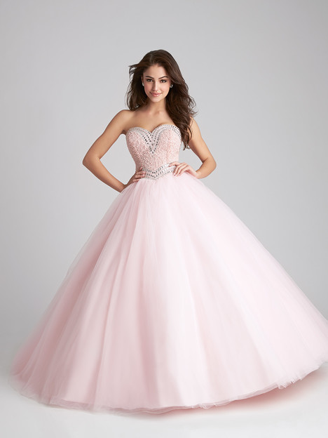 Q532 (light pink) Prom                                             dress by Allure Quinceanera
