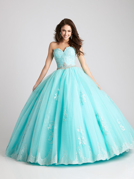 Q533 (aqua) Prom                                             dress by Allure Quinceanera