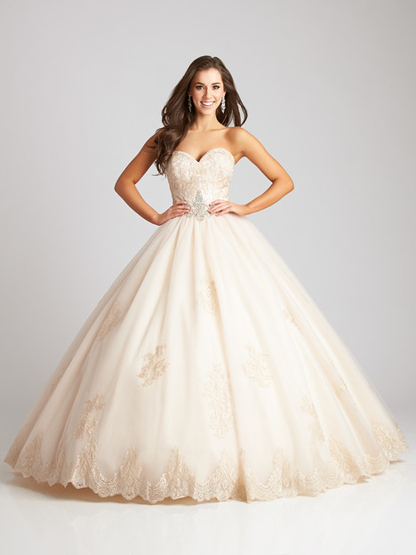 Q533 (champagne) Prom                                             dress by Allure Quinceanera