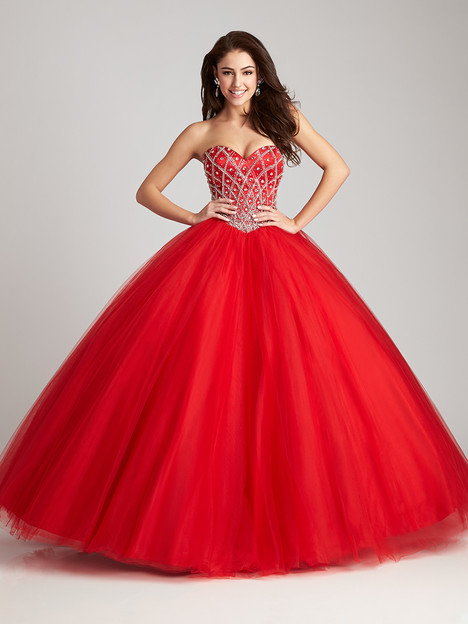 Q534 (red) Prom                                             dress by Allure : Quinceanera