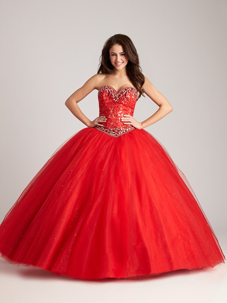 Q535 (red) Prom                                             dress by Allure : Quinceanera